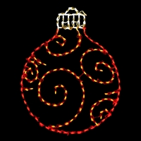 LED Ornament Round - Red/Yellow