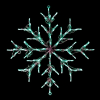 LED Snowflake - Green