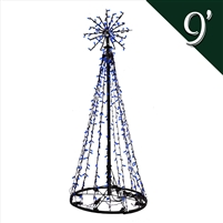 LED 9' Tree of Lights - Blue