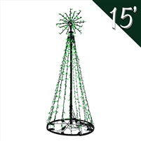 LED 15' Tree of Lights - Green