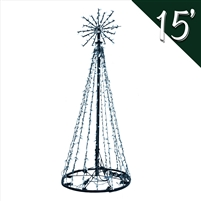 LED 15' Tree of Lights - Pure White