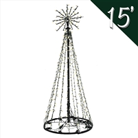 LED 15' Tree of Lights - Warm White