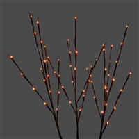 LED-Twigs - Set of 3 - Orange (Qty 12)