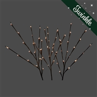 LED Twigs - Set of 3 -WW Twinkle (Qty 12)