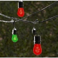 LED Vintage Patio Lights- Rd/Gr Trans 30.5' ( 1 Set)