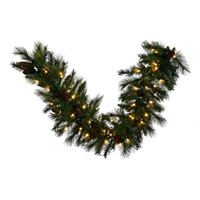 "LED Mixed Noble Garland 4.5' x 14"" - Warm White - Qty 4"