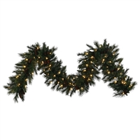 "Mixed Noble Garland 9' x 14"" - Clear Incandescent - Qty 4"