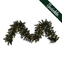 "LED Mixed Noble Garland 9' x 14"" - Warm White Twinkle - Qty 4"