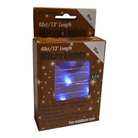 13' Micro Lights LED 40 - Copper Wire/Blue - (Qty 24)