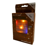 13' Micro Lights LED 40 - Copper Wire/Multi - (Qty 24)