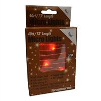 13' Micro Lights LED 40 - Copper Wire/Red - (Qty 24)