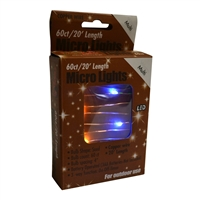 20' Micro Lights LED 60 - Copper Wire/Multi - (Qty 24)