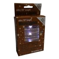 20' Micro Lights LED 60 - Copper Wire/PW - (Qty 24)