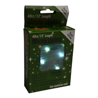 13' Micro Lights LED 40 - Green Wire/PW - (Qty 24)