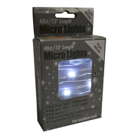 13' Micro Lights LED 40 - Silver Wire/PW - (Qty 24)