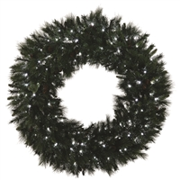 "LED Mixed Noble Wreath 30"" - Pure White - Qty 4"