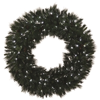 "LED Mixed Noble Wreath 36"" - Pure White - Qty 2"