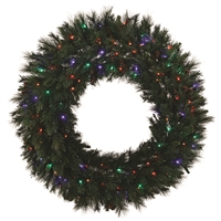 "LED Mixed Noble Wreath - Multi - 48"" Hinged"