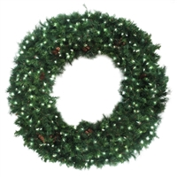 3D Mixed Noble Wreath - Clear Incandescent - 6' with Frame