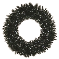 LED 3D Mixed Noble Wreath 6' - Pure White
