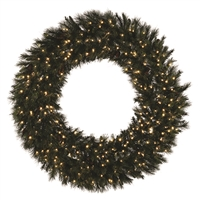 LED 3D Mixed Noble Wreath - Warm White - 8'
