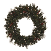 "LED Noel Wreath 30"" - Warm White - Battery Operated (Qty 2)"