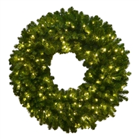 LED 3D Olympia Pine Wreath 10' - Warm White