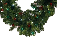 "LED Oregon Fir Garland 9' x 14"" (Qty 4)"