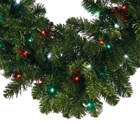 LED Oregon Fir Wreath 48""