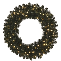 LED Oregon Fir Wreath 72""