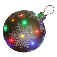 "18"" LED Jeweled Gold Ball Snowflake Ornament"