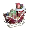 "31""H LED Fiber Optic Lighted Presents in Sleigh"