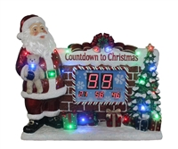 "33.5""H LED Lit Santa Countdown Clock w/Music"