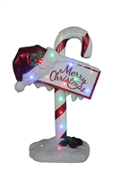 "34"" Candy Cane - Merry Christmas Sign"