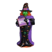 "48"" LED & Fiber Optic Witch Figure w/Sign"