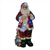 "52"" LED Santa Wearing Glasses w/ Scroll"