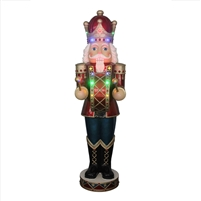 "60"" LED Animated Nutcracker w/ Blue Pants"