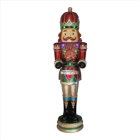"61"" LED MGO2 Musical Nutcracker w/ Moving Hands"