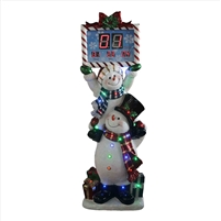 "62.5"" LED Stacking Snowmen Countdown Clock"