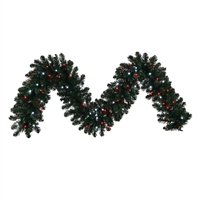 "LED Sierra Garland 9' x 14"" Candy Cane - PW/Red (Qty 4)"