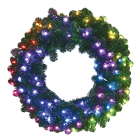 "RGB Mini Pixel Sierra Wreath 36"" (Qty 2)"