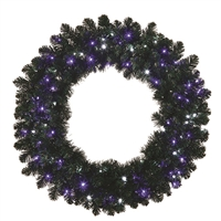 "LED Sierra Wreath 48"" Frozen PW/Blue"