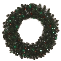 "LED Sierra Wreath 48"" Traditional Multi"
