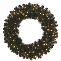 "LED Sierra Wreath 48"" Warm White"