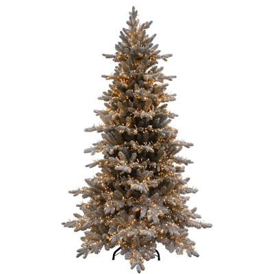 Clark Griswold Flocked Overlit Tree - 7' LED Warm White