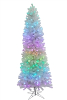 RGB Mini Pixel Sierra Pencil Tree 7.5' - Silver/White