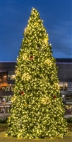 30' Giant Commercial Size Tower Tree - Warm White