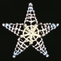 "LED TP Five Point Star 36""- Mixed White"