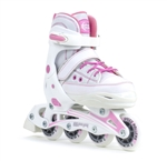 camden,girls,inline,skate,pink,white,ll,adjustable