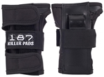 187,wristguards,pads,killer,protection,black,derby